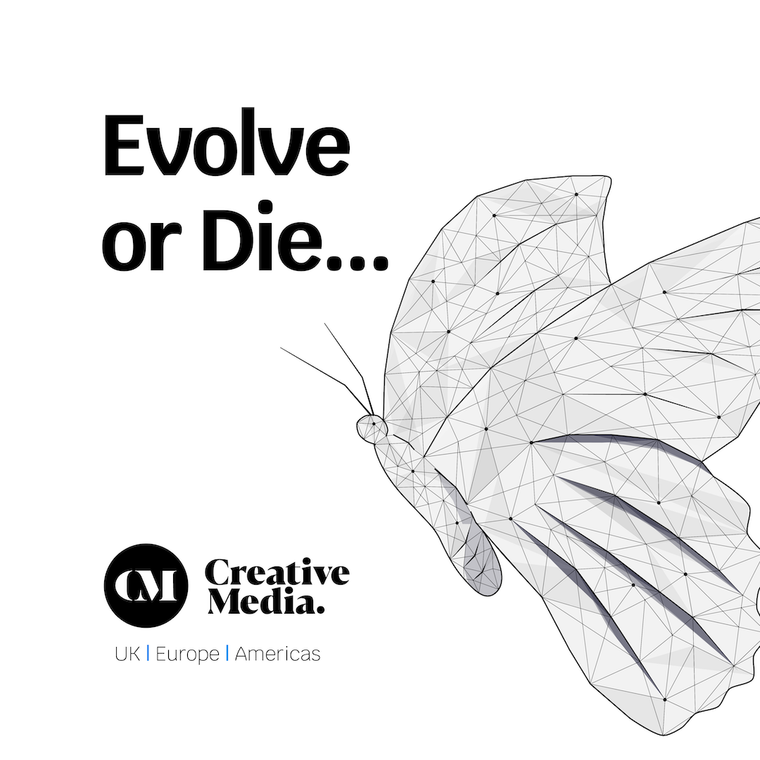 Evolve or die illustrated butterfly